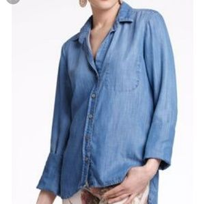 Anthropologie Cloth& Stone High/Low Chambray Shirt
